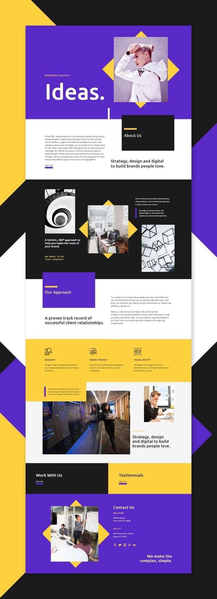 Website Builder Free Template Webdesign Web Design Layout