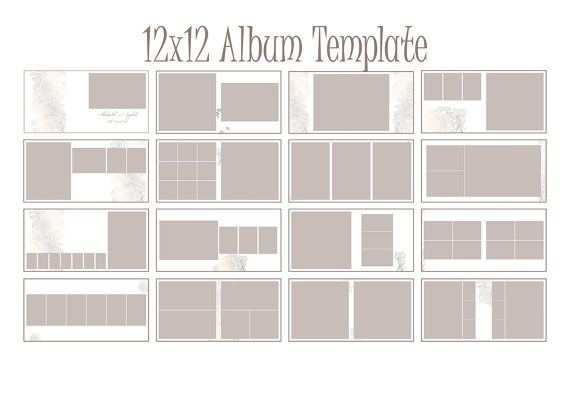 Album Template 12x12 Square Album Indesign Portfolio Design