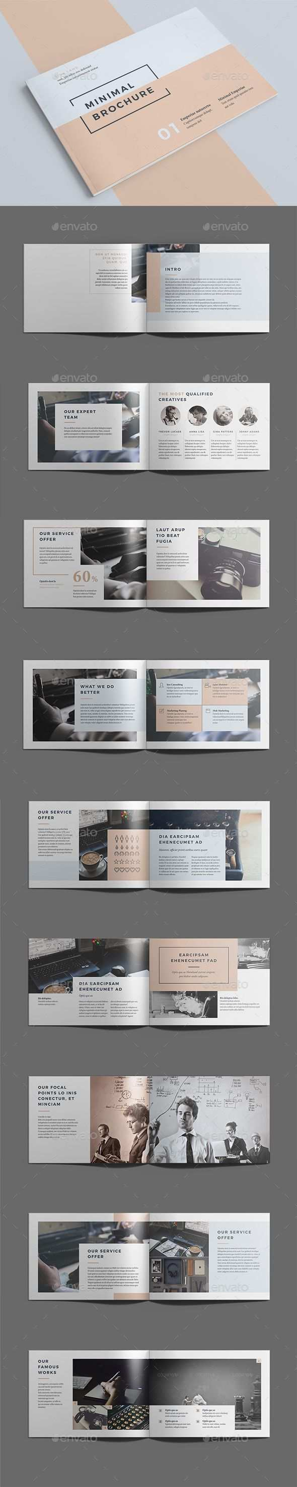 Minimal Brochure Template Indesign Indd Download Here Https