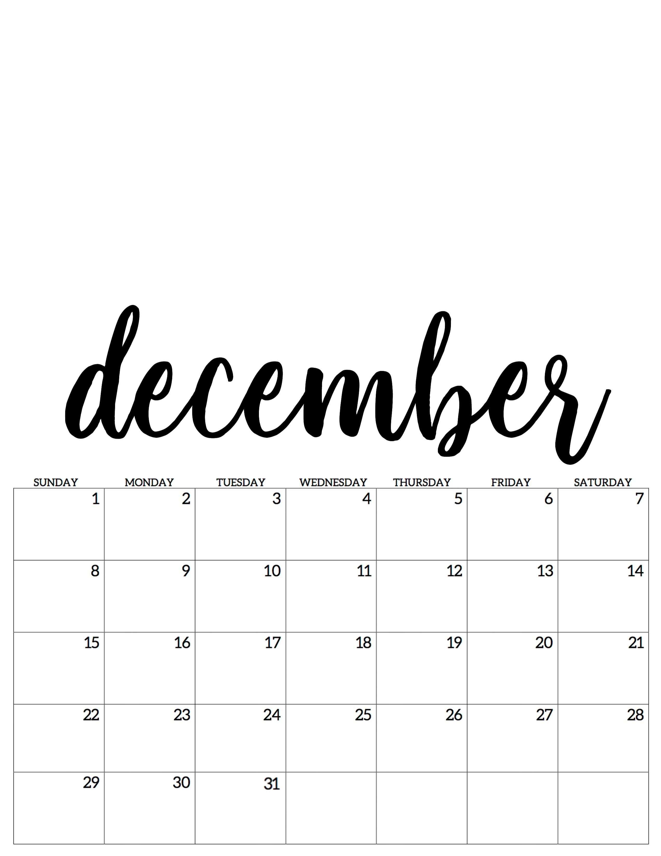 December Dezember Kalender Calendar 2019 Dezember Kalender