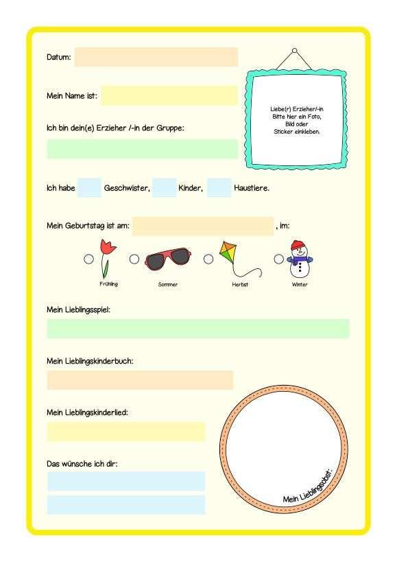 Meine Kindergartenzeit Freundebuch Erinnerungsalbum Zum