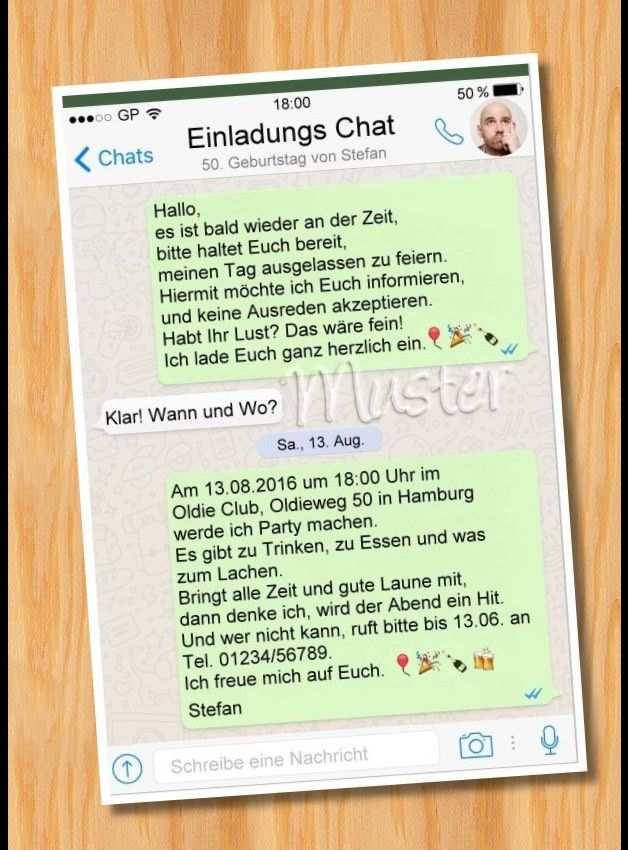 Whatsapp Einladung Geburtstag Vorlagen Einladung Geburtstag