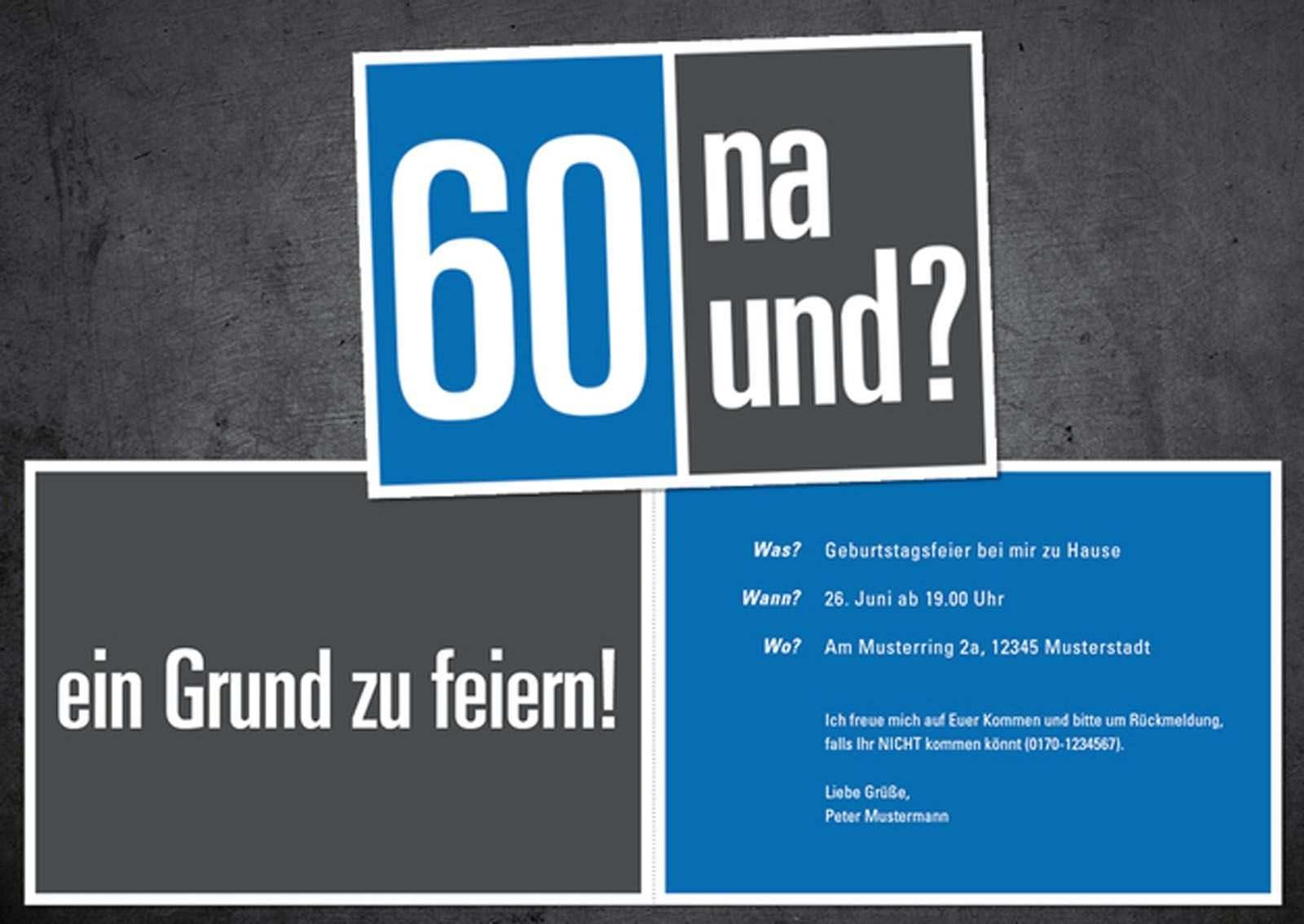 Einladungen Zum 60 Geburtstag Kostenlos Ausdrucken Einladung 60