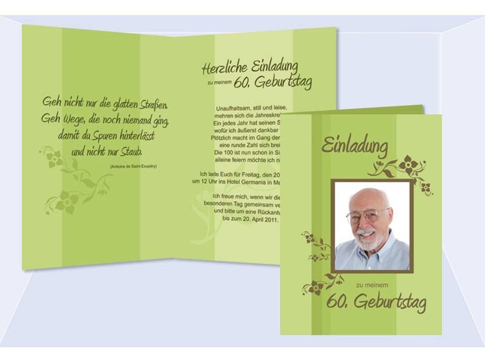 Einladung 60 Geburtstag Vorlage Word Einladung 60 Geburtstag