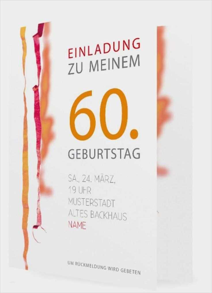 Einladungskarten Einladungen Geburtstag 60 Einladung Insparadies