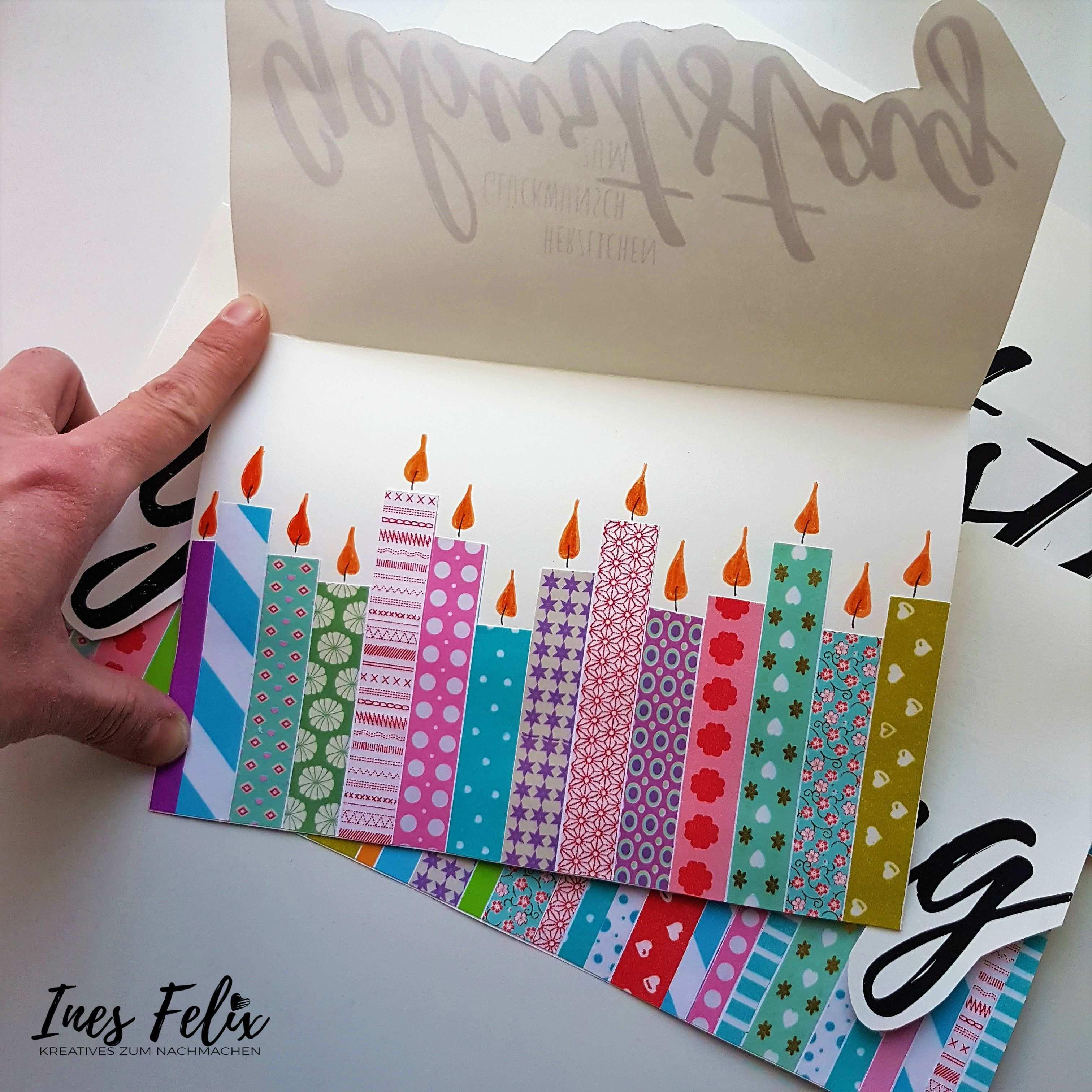Geburtstagskarten Mit Masking Tape Geburtstagskarte Karte