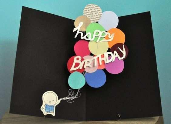 Geburtstagskarte Selber Basteln Pop Up Oder Aufklappkarte Mit