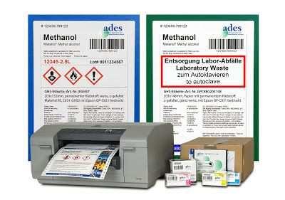 Besserdrucken Drucker Furgrossformatige Ghs Etiketten Dercolorpr Etiketten