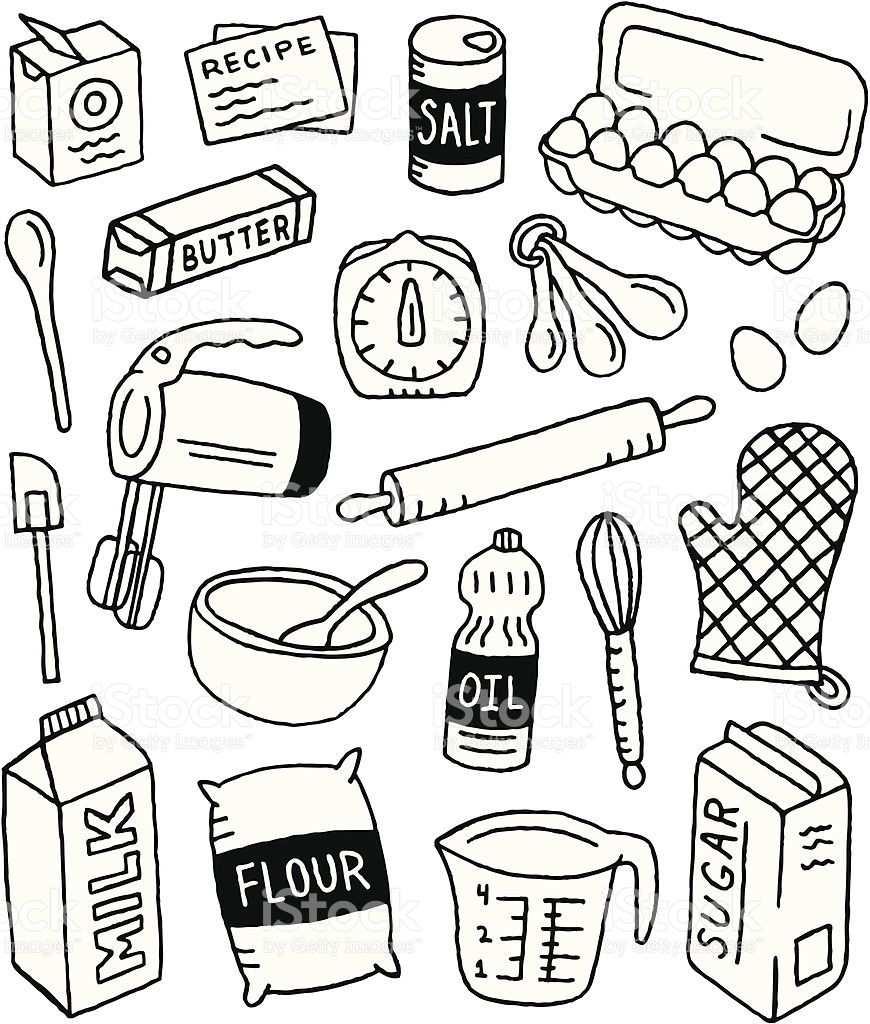 A Baking Themed Doodle Page Kritzeleien Kritzel Zeichnungen