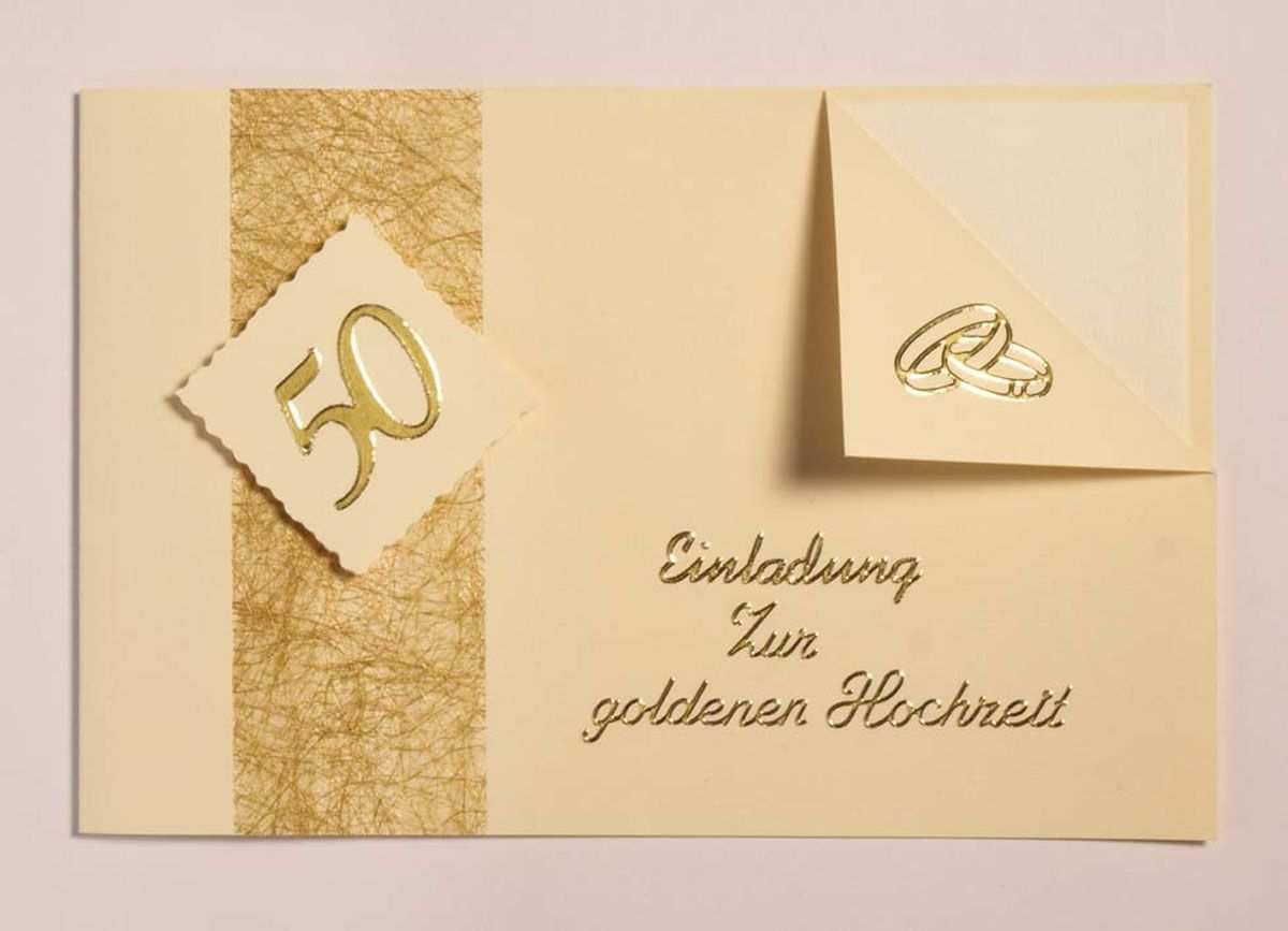 Einladungskarten Zur Goldenen Hochzeit Einladung Goldene