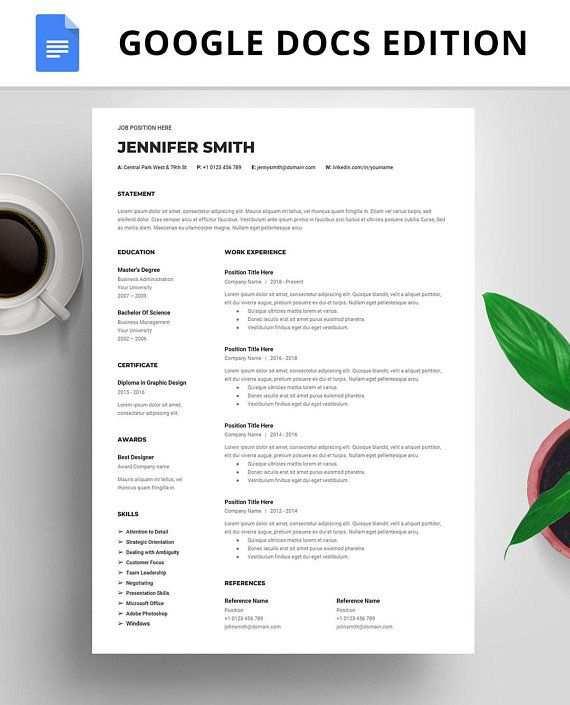 Professionellen Lebenslauf Vorlage Google Docs Instant Download