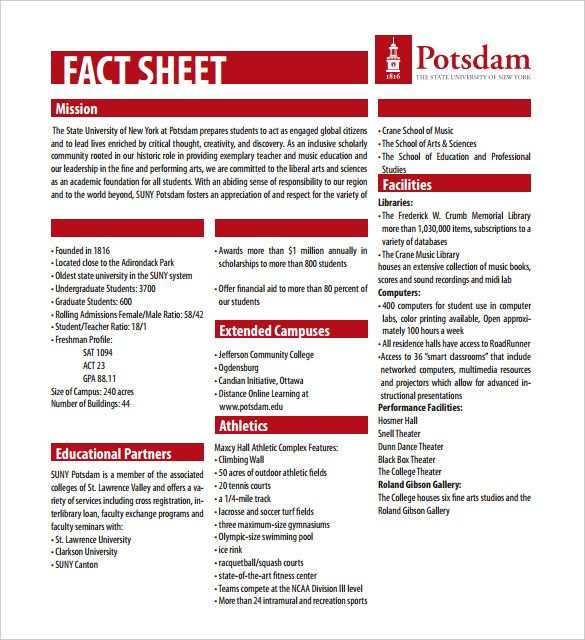 27 Fact Sheet Templates Pdf Doc Apple Pages Google Docs
