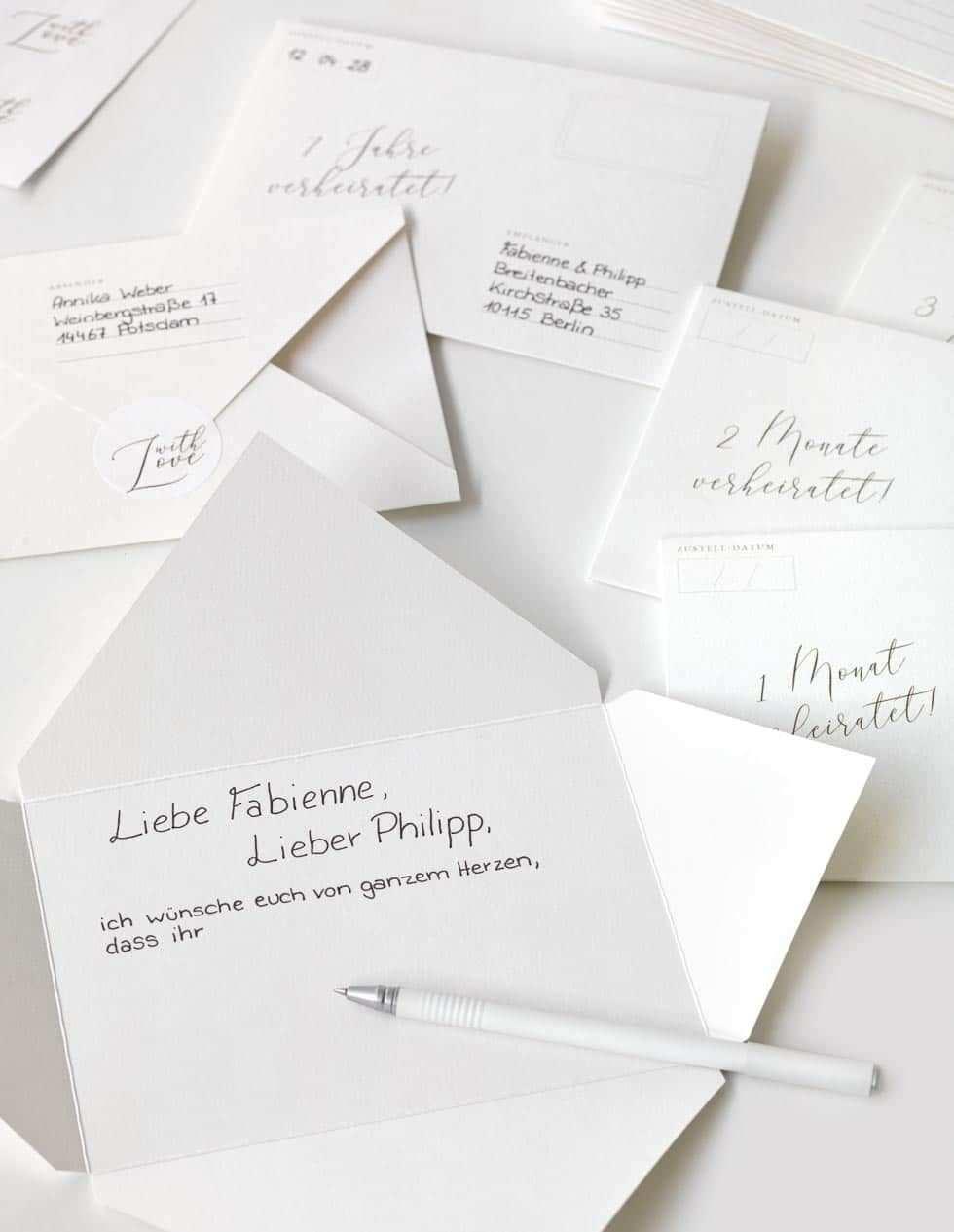 Geschenk Fur Das Brautpaar Vorlage Uberraschungsbriefe In 2020