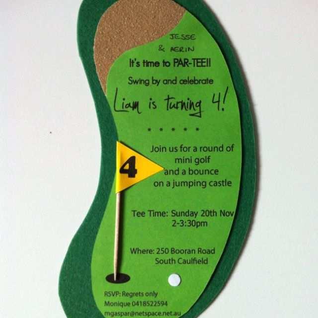 Mini Golf Party Invitation It S Time To Par Tee Landon S