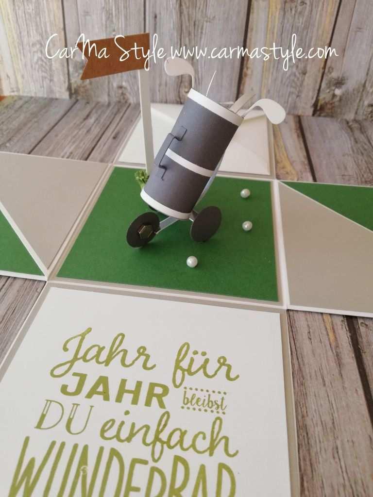 Uberraschung Fur Einen Golfspieler Gutschein Basteln Golf