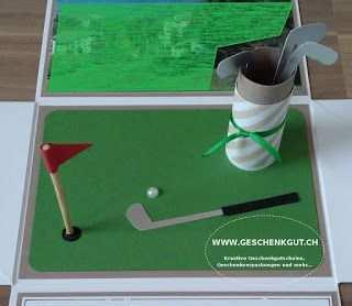 Explosionsbox Uberraschungsbox Geschenkbox Golf Golfspielen