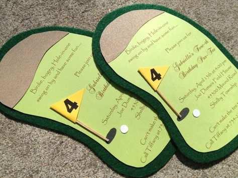 Golf Birthday Party Invitation Golf Invitation Or Scramble Boy