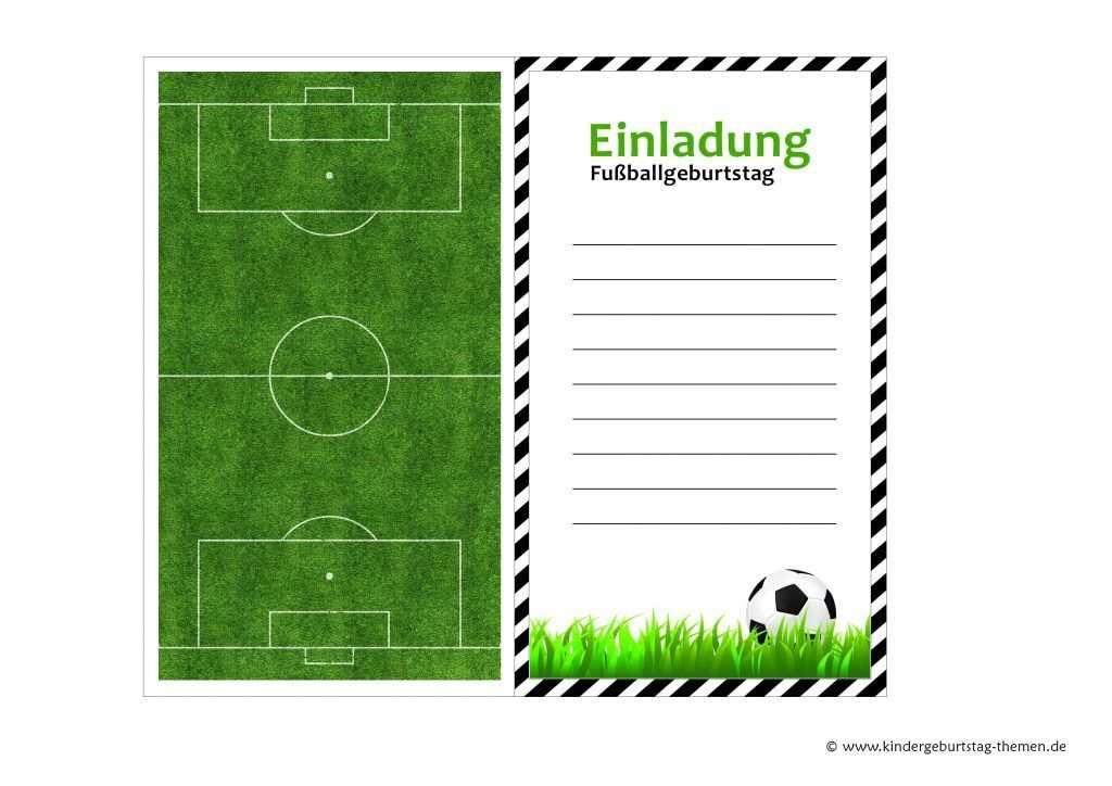 Geburtstagskarte Fussball Ausdrucken Geburtstagseinladungen Zum