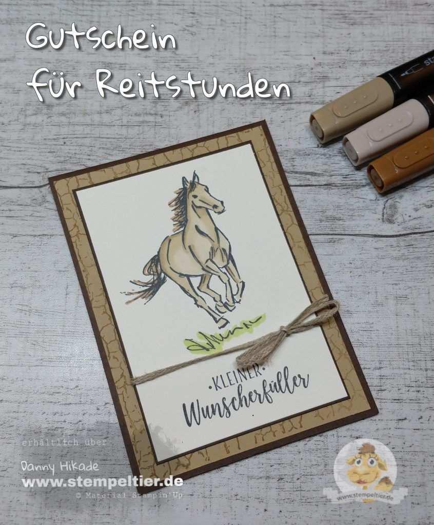 Gutschein Fur Reitstunden Pferde Pferdekarten Gutschein