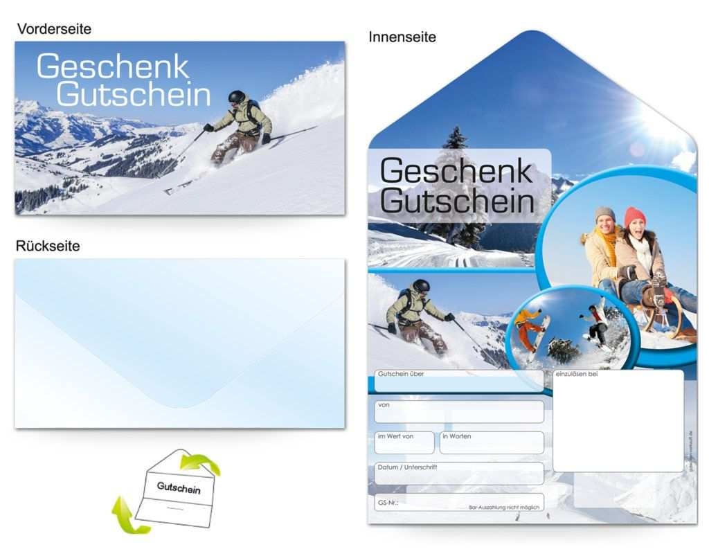 Gutschein Reisen Wintersport Gutscheine Gutschein Vorlage