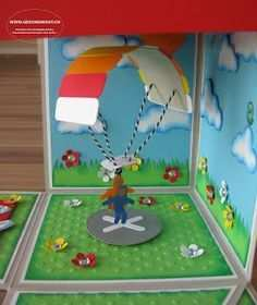 Geschenkbox Uberraschungsbox Explosionsbox Fallschirm Gleitschirm