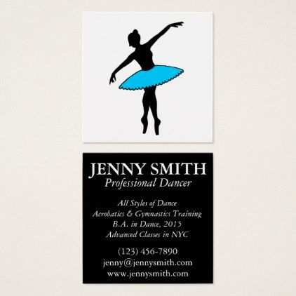 Professional Dancer Ballerina Dance Teacher Business Cards