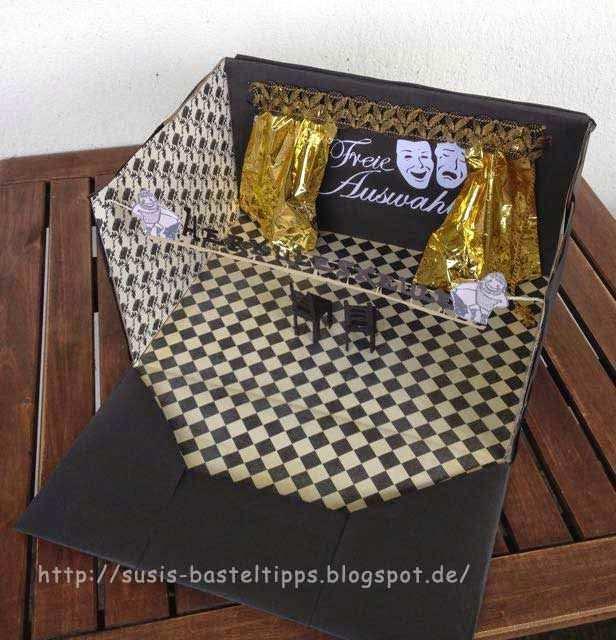 Theater Gutschein Kreativ Verpackt Geschenke Verpacken Gutschein