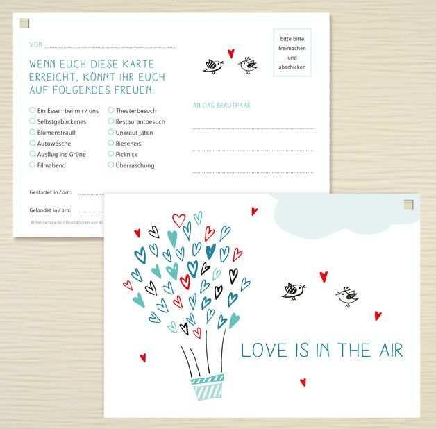 Love Is In The Air Wasserfeste Luftballonkarten Eine Schone