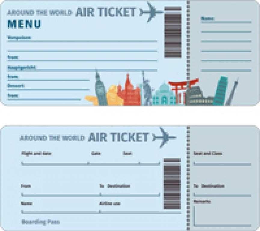 Gratis Download Flugticket Motive Flugtickets Fluggutschein Gutschein Basteln Reise