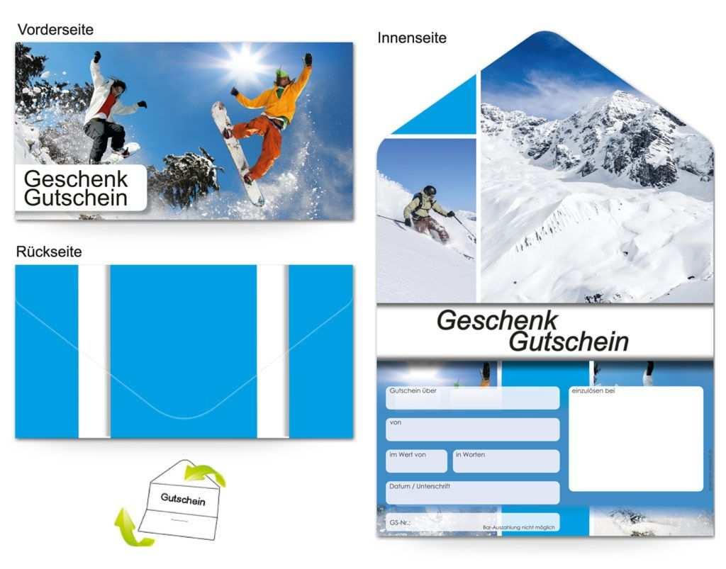 Gutschein Reisen Alpen Und Ski Gutscheine Gutschein Vorlage