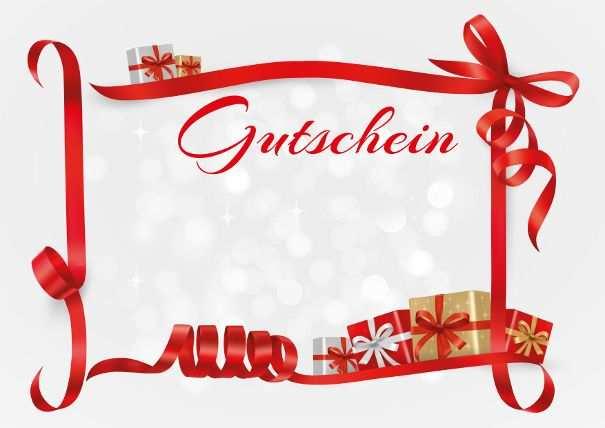 Gutschein Geschenke Und Schleifen Gutschein Vorlage Weihnachten