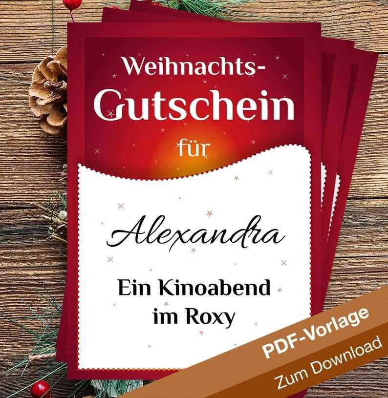 Gutschein Vorlage Weihnachten Zum Download Selbst
