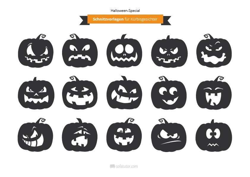 Halloween Schnitzvorlagen Fur Gruselkurbisse Http Magazin