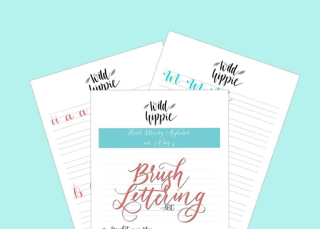 Kostenlose Hand Lettering Ubungsblatter Fur Dich Lettering Hand
