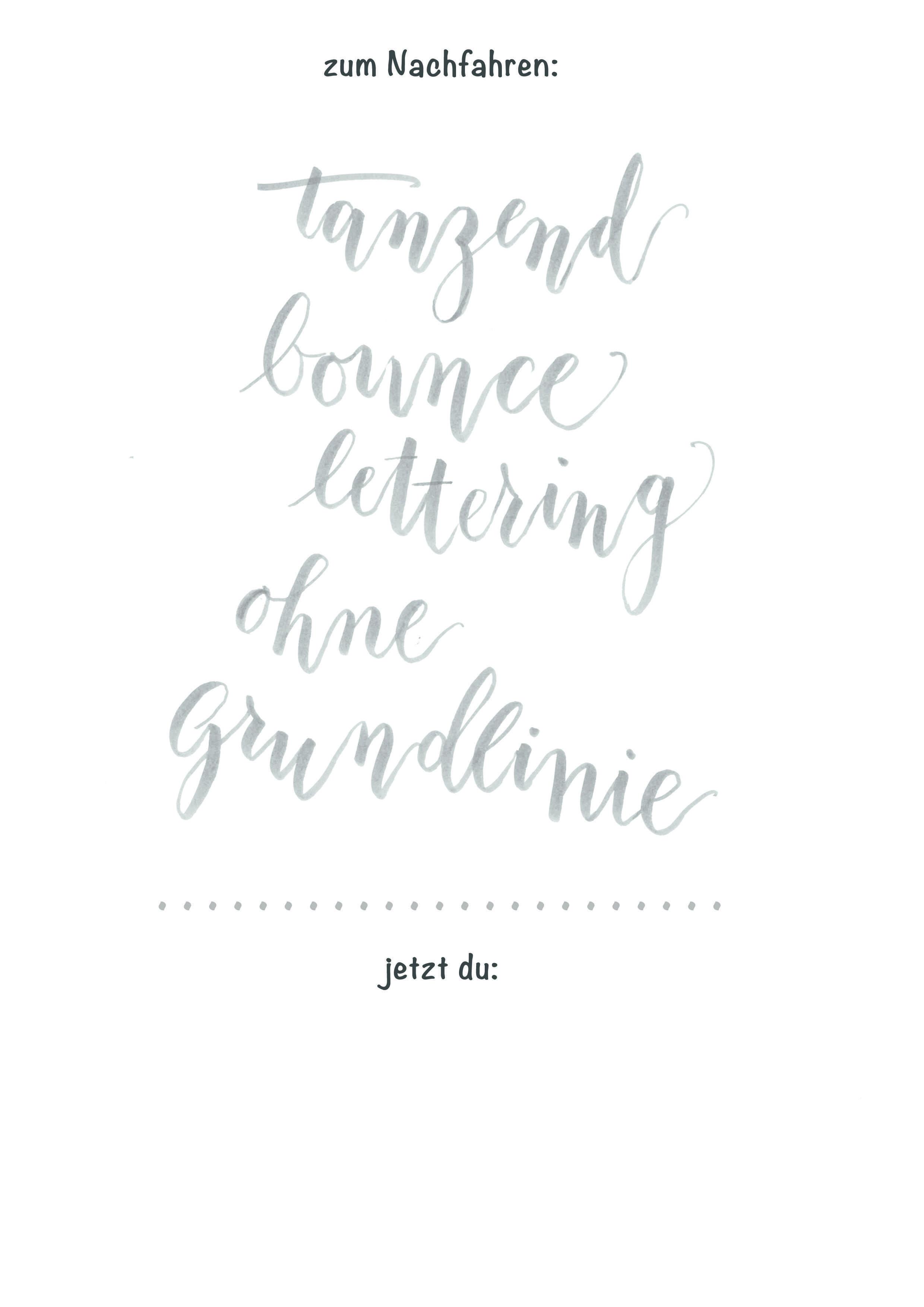 Lettering Vorlage Handlettering Ubungsblatt Ausdrucken Lettering