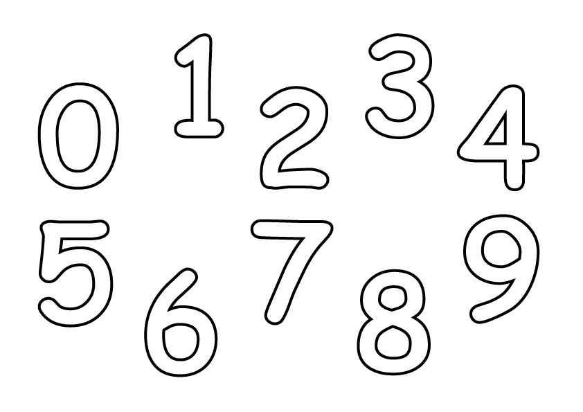 1 2 3 Malvorlage Spielend Ziffern Lernen Zahlen Vorlagen