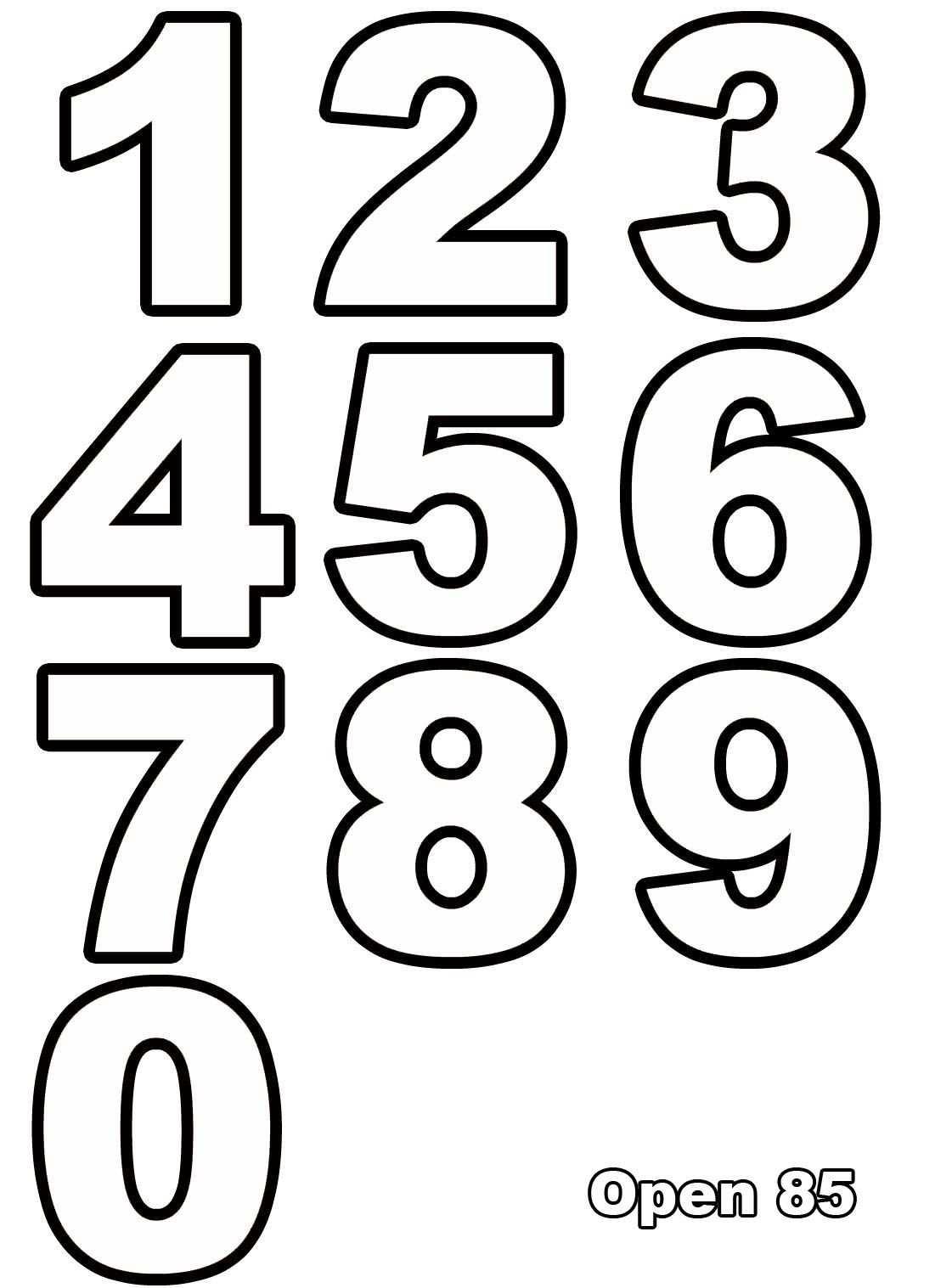 Ausmalen Nummern Ausmalbilder Fur Kinder Molde De Numeros