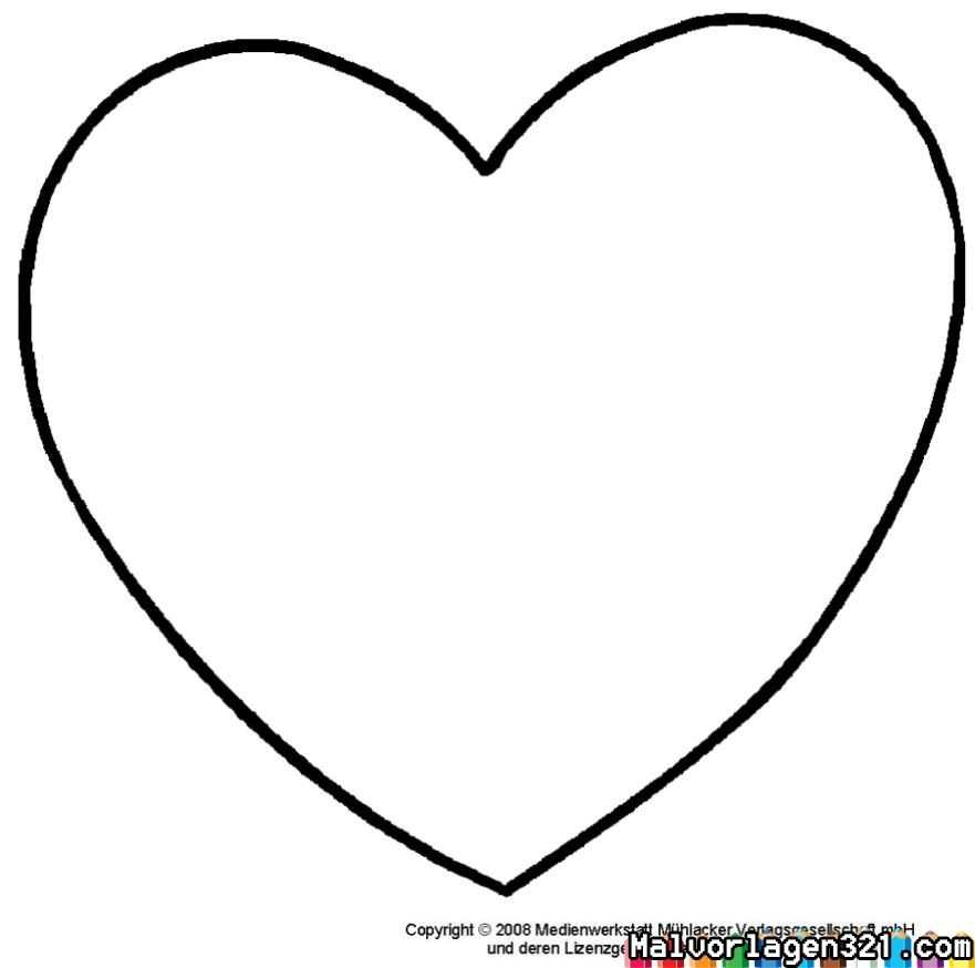 Herz Schablonen Ausdrucken Ausmalbilder Zum Ausdrucken