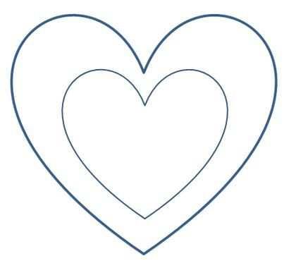Lesezeichen Ausdrucken Herz Lesezeichen Herzschablone Herz