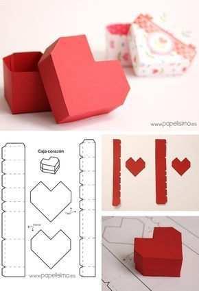 Diy Herzbox Aus Eva Oder Moosgummi Valentinstag Handarbeit