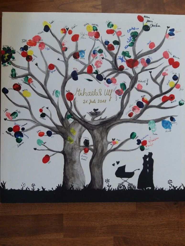 Gastebaum Fur Eine Hochzeit Baum Auf Eine Leinwand Malen Und