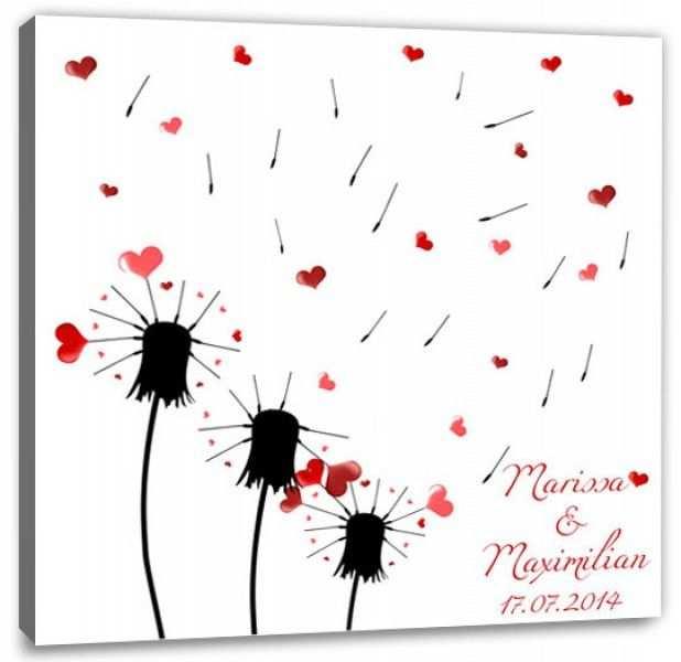 Fingerabdruck Baum Hochzeit Wunsche Pusteblume Fingerabdruck