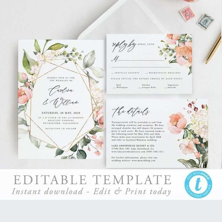 Hochzeit Einladung Vorlage Download Einladung Suite Geometrisch