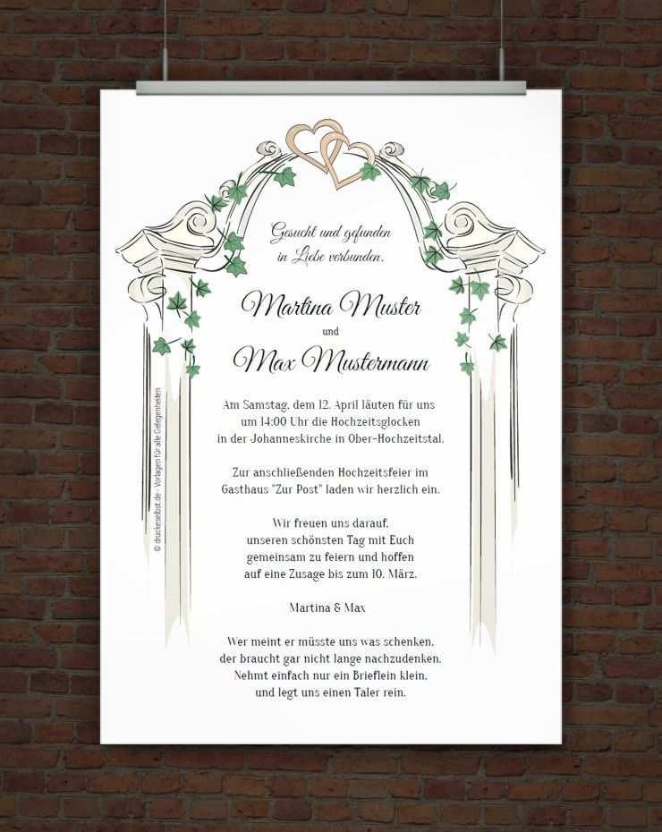 Kostenlose Hochzeitseinladung Zum Ausdrucken Einladung