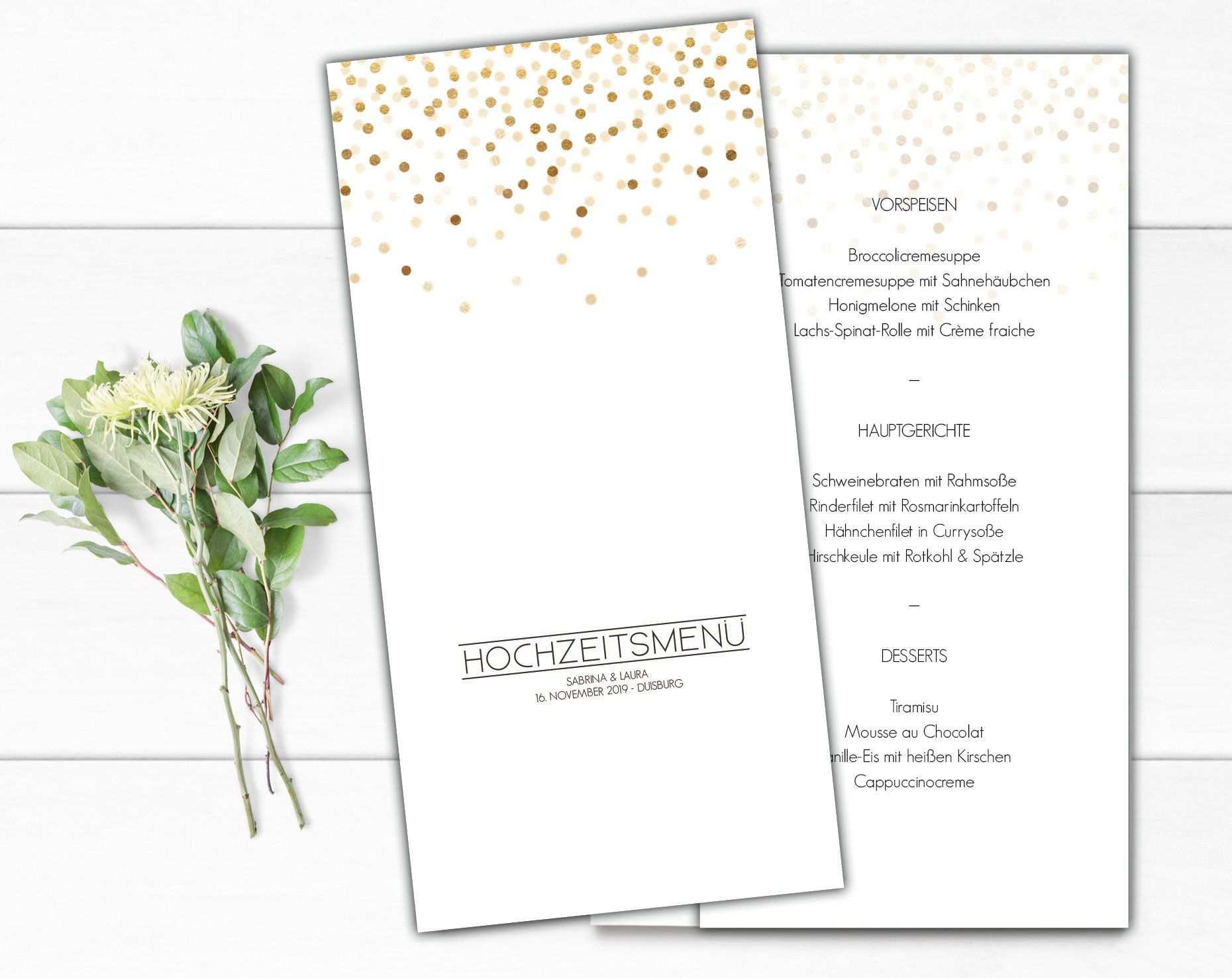 Menukarte Hochzeit Getrankekarte Hochzeit Buffetkarte Hochzeit