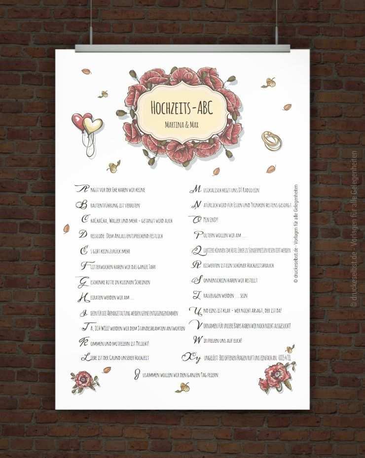 Kostenloses Hochzeits Abc Zum Ausdrucken Hochzeitsbuch