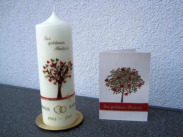Helgas Kerzen Und Kartenzauber Geschenke Zur Goldenen Hochzeit