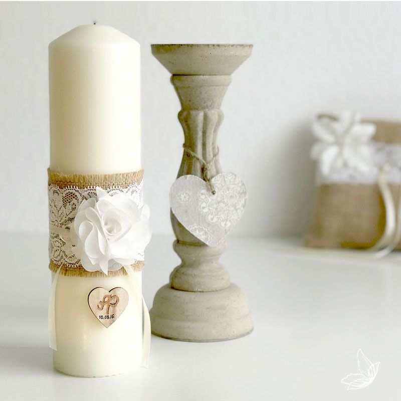 Diy Vintage Hochzeitskerze Mit Spitze Velas Interiores