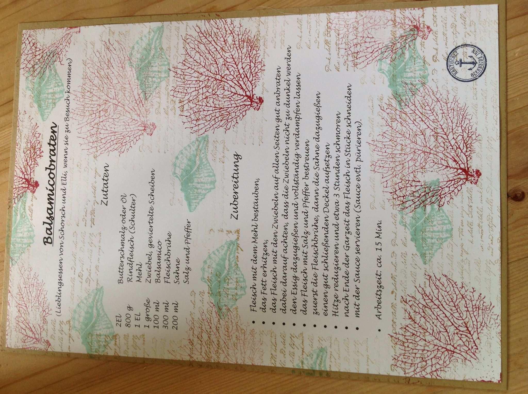 Rezept Fur Hochzeitskochbuch Hochzeitskochbuch Geschenke Hochzeit