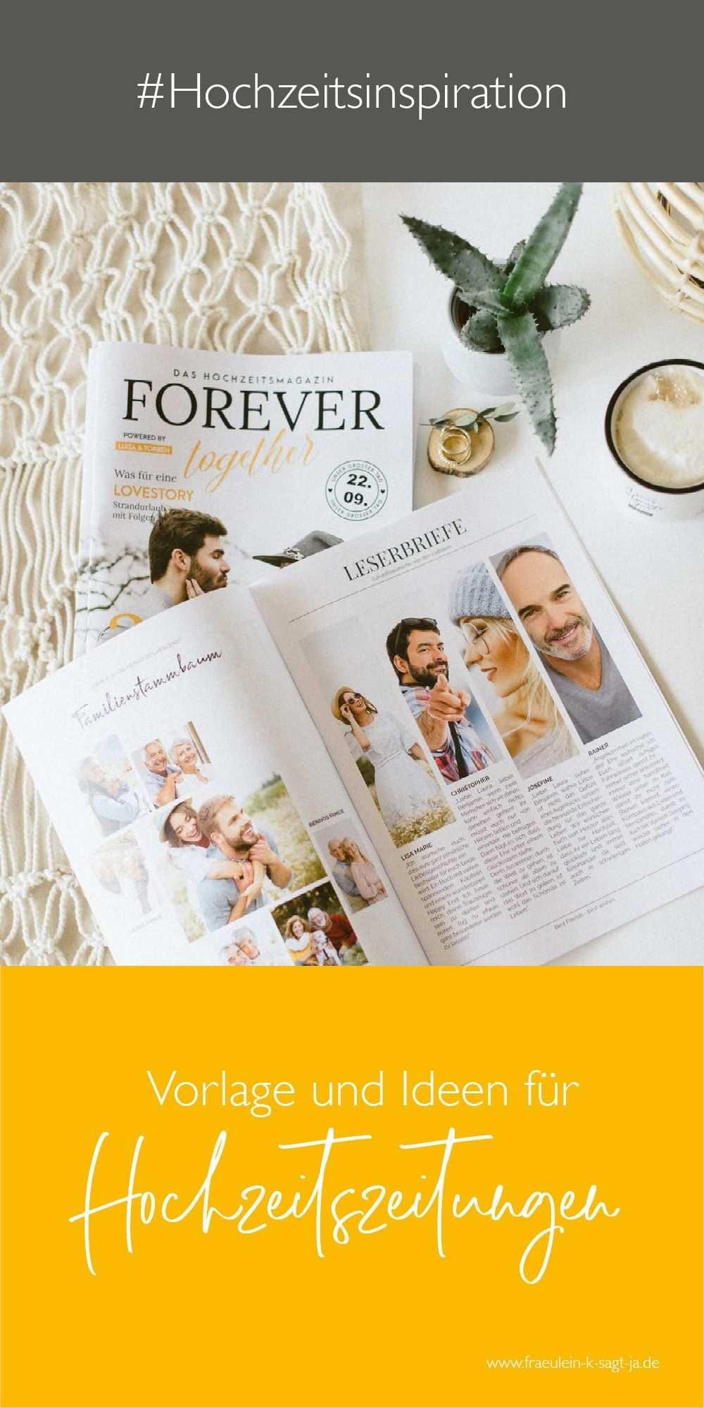 Die Hochzeitszeitung Inhalte Layout Tipps Hochzeitszeitung